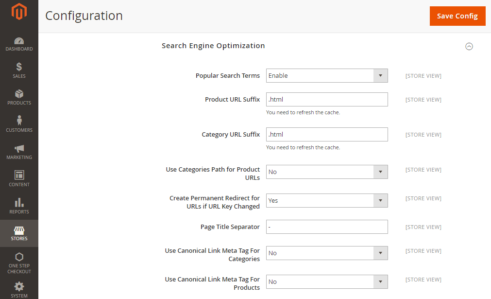 How to Enable Canonical Meta Tag
