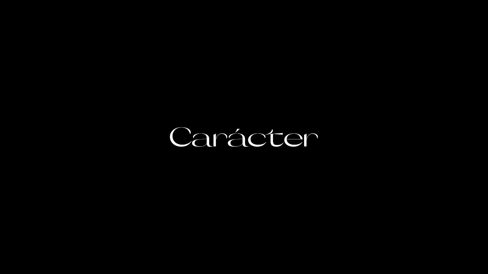 Carácter Branding and Visual Identity