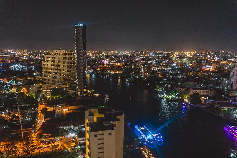 View from a Bangkok sky bar in Bangkok.