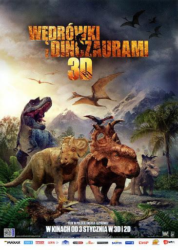 Przód ulotki filmu 'Wędrówki Z Dinozaurami'