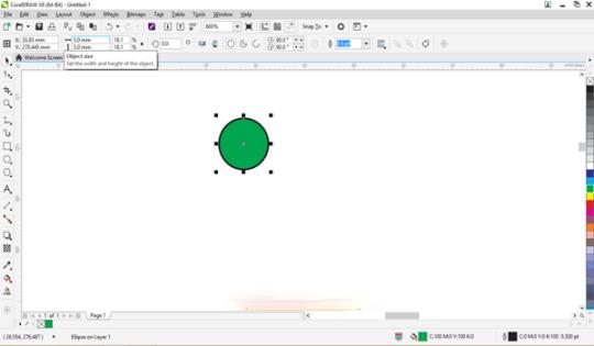 Vẽ một hình tròn với kích thước bằng đèn led