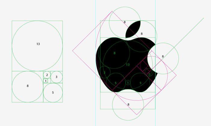 Golden Ratio pada logo apple di Cara Membuat Logo
