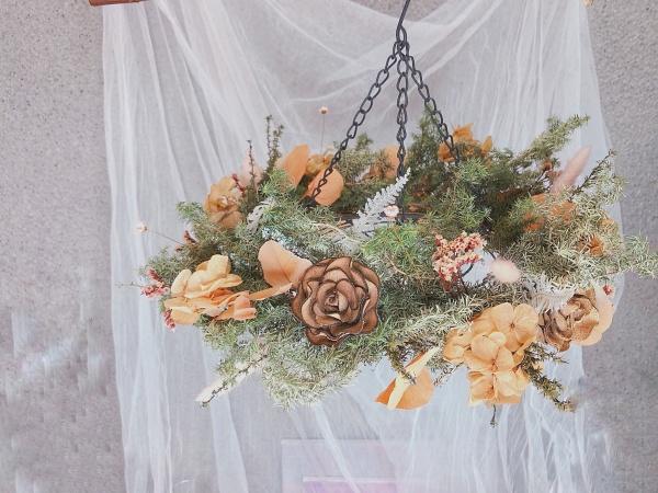 聖誕花圈diy-皮革聖誕花圈