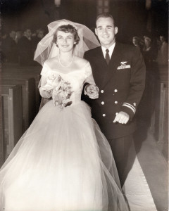Doris and Stan on their wedding day