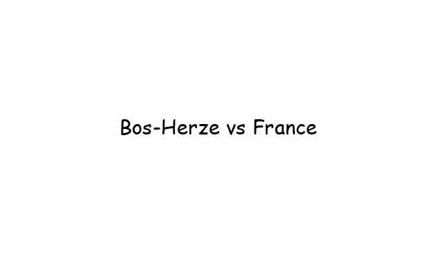 Bos-Herze vs France