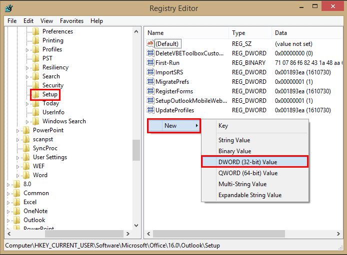 How to fix we couldn't create the Outlook data file error