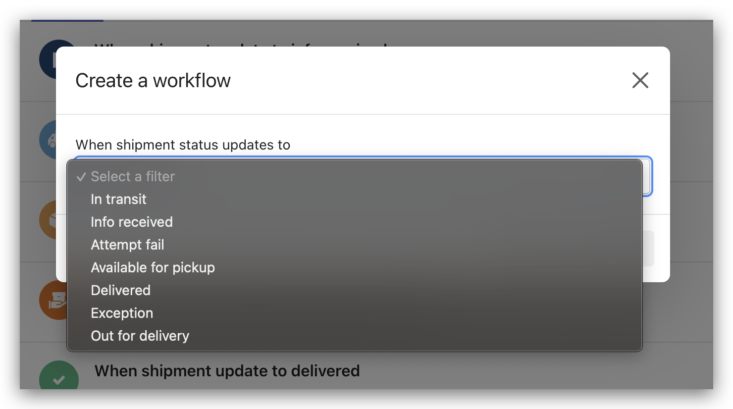 Send Tracking Update Notifications Based on Customized Automated Workflows