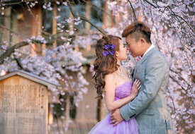 sakura wedding purple