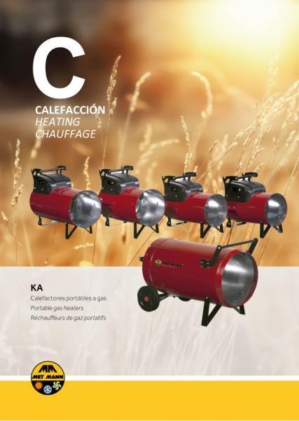 Chauffage à air chaud au gaz butane ou propane de 15 à 108 kW - KA