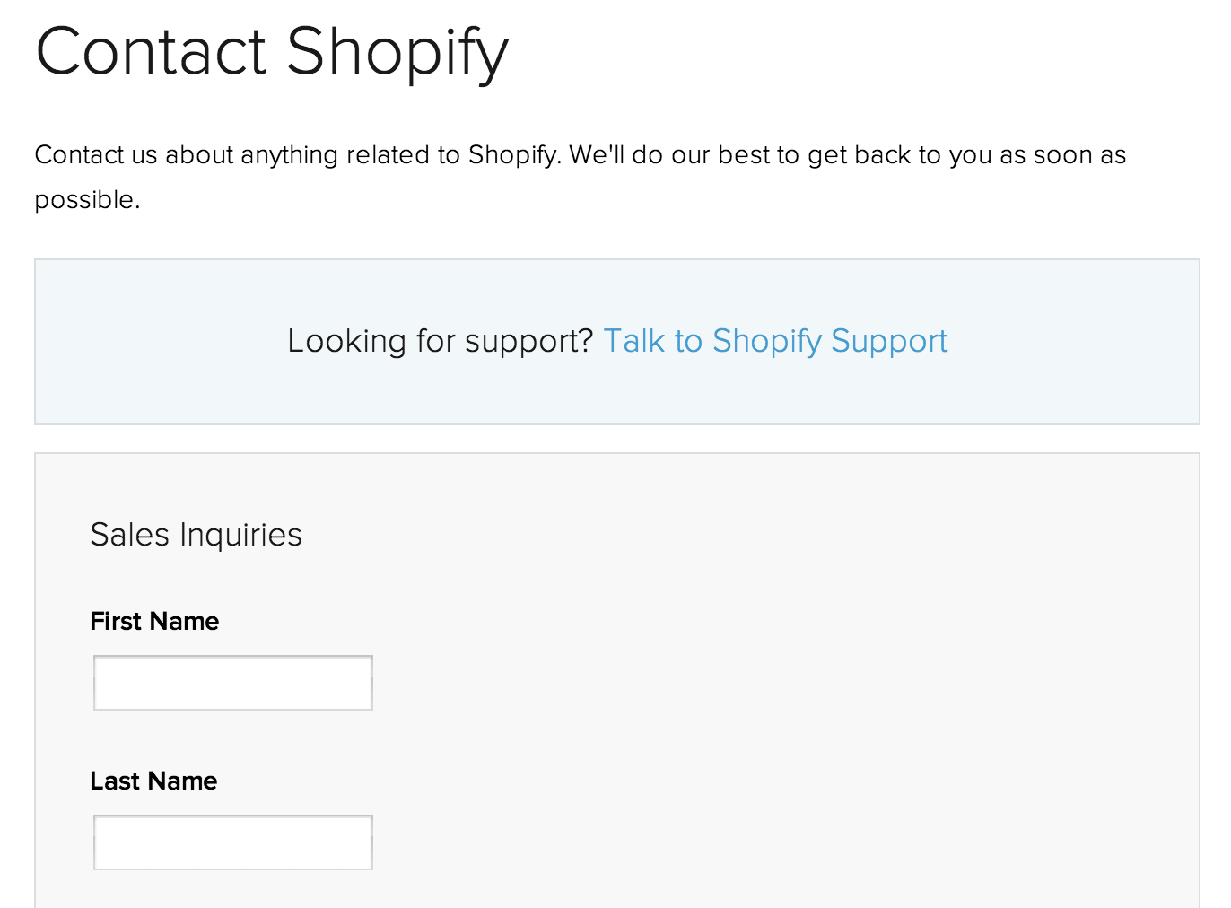 how to create a contact us page on shopify