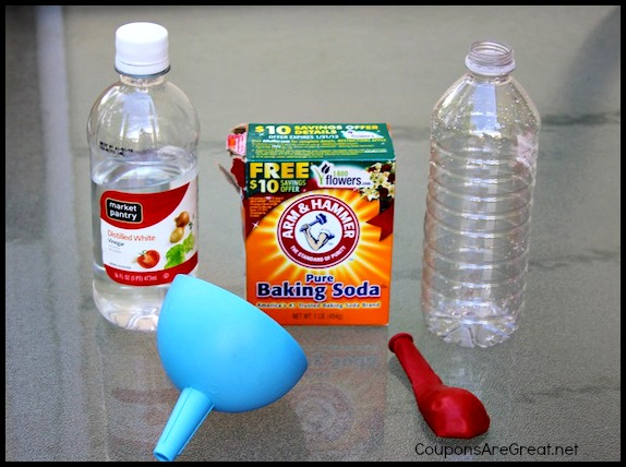 Image result for baking soda and vinegar balloon