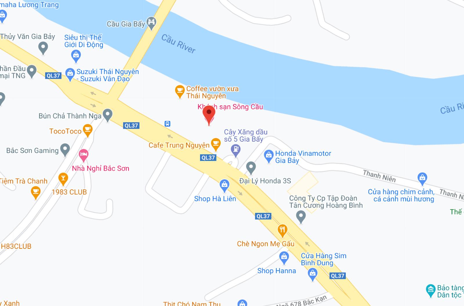 Địa điểm đón/trả khách tại Thái Nguyên