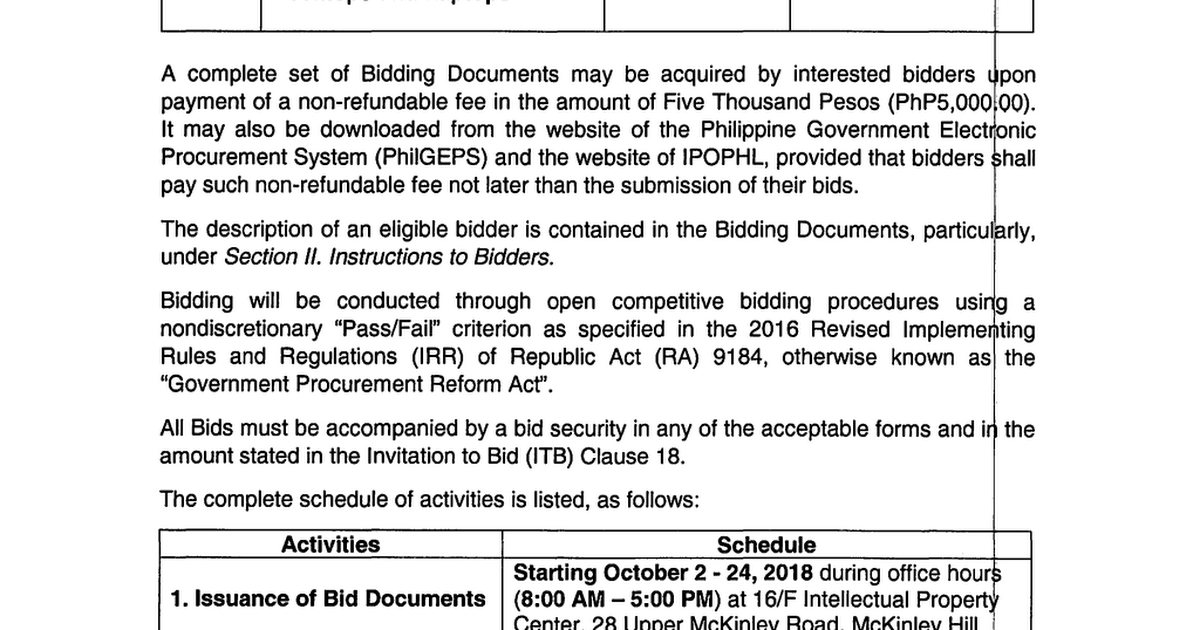 Bid Documents - Endpoint Management Solution (2nd Bidding
