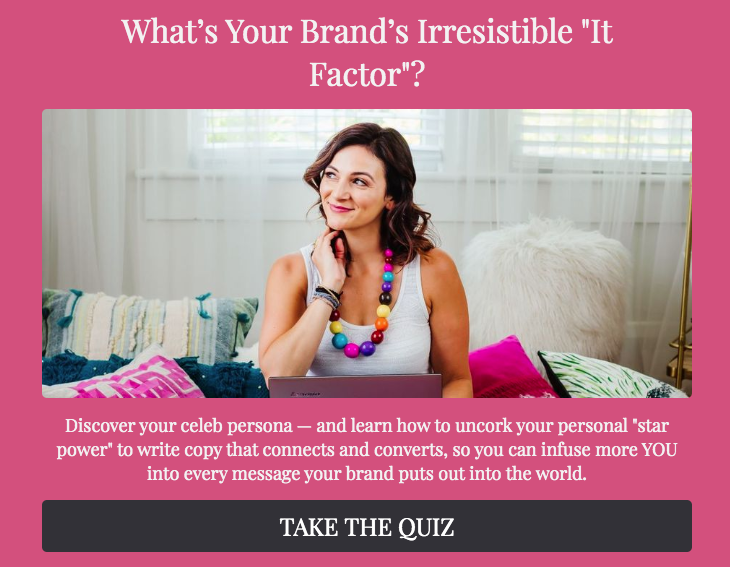 "What's your brand's irresistible ""it factor""? quiz cover"