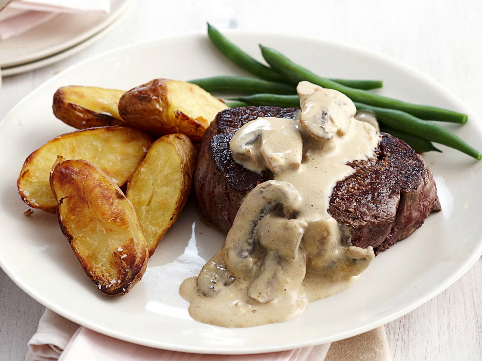 Image result for steak and mushroom sauce