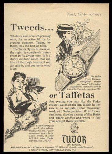 1956 Rolex Tudor Oyster Princess vintage UK print ad. #tudor ...