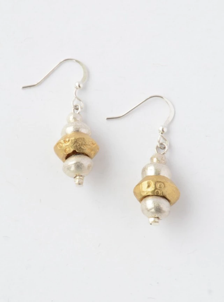Small Recycled Bullet Casing Earrings - about fair trade partnership | Fair Anita