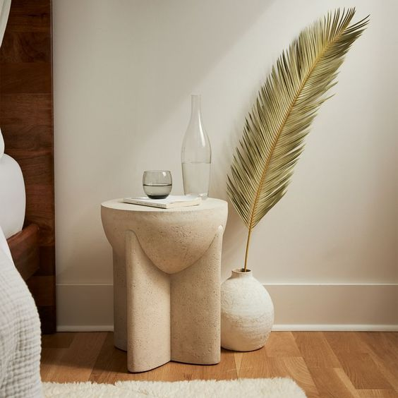 Stone Bedside Table