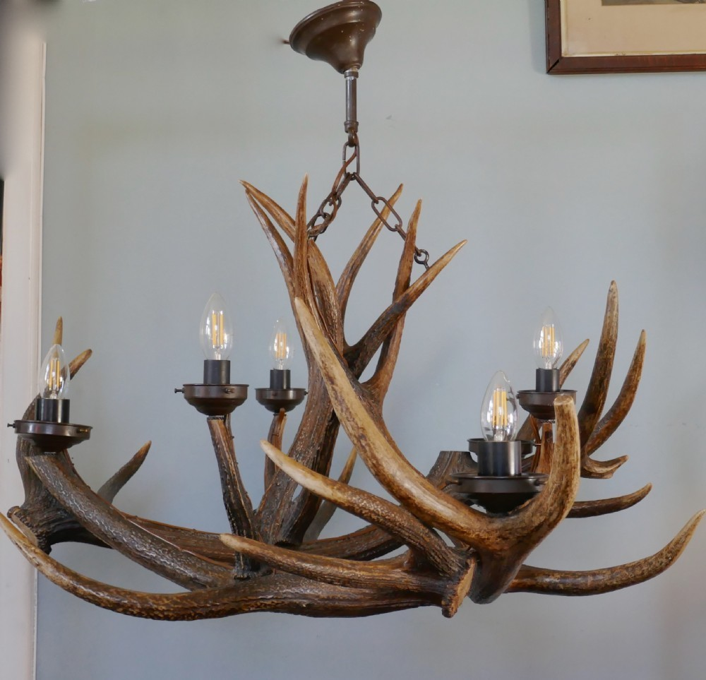 wooden vintage chandelier