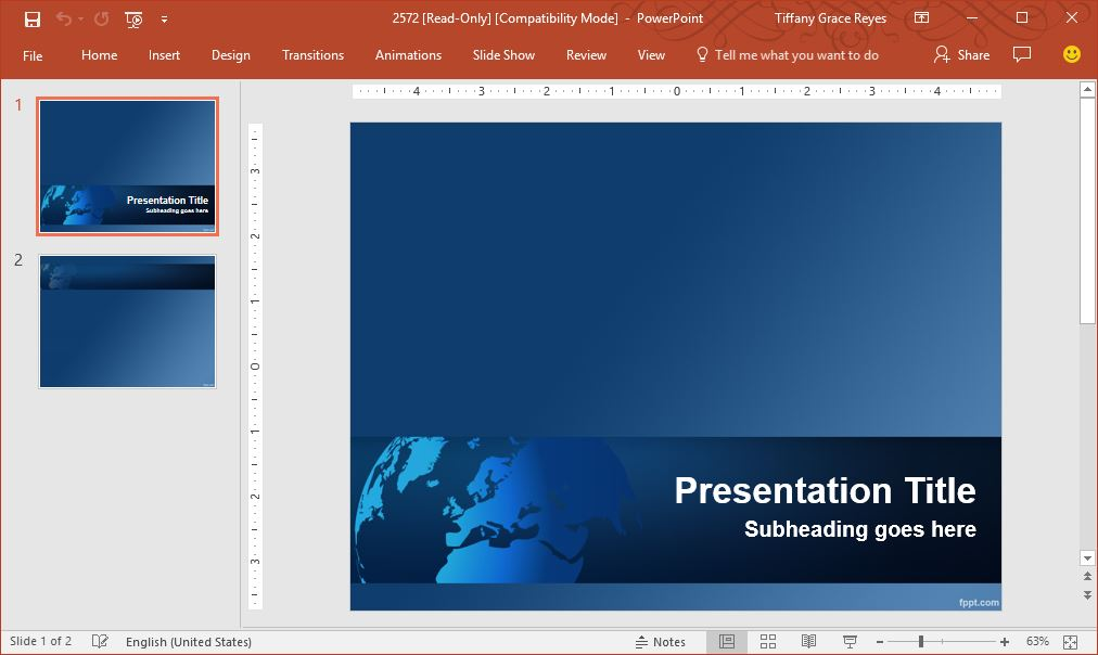 world-map-blue-powerpoint-template