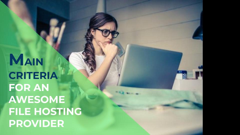 Main Criteria in choosing the perfect File Hosting provider
