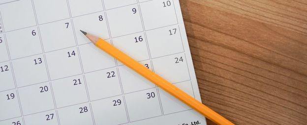 Карандаш, календарь