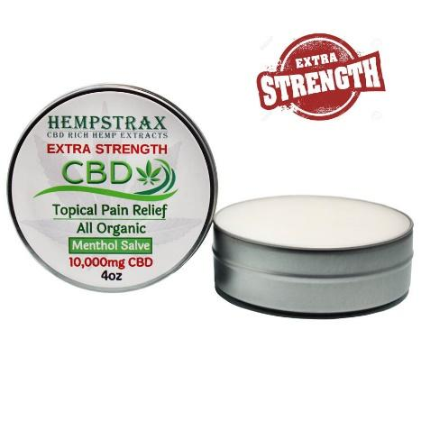 Extra Strength Menthol CBD Salve with 10,000mg CBD