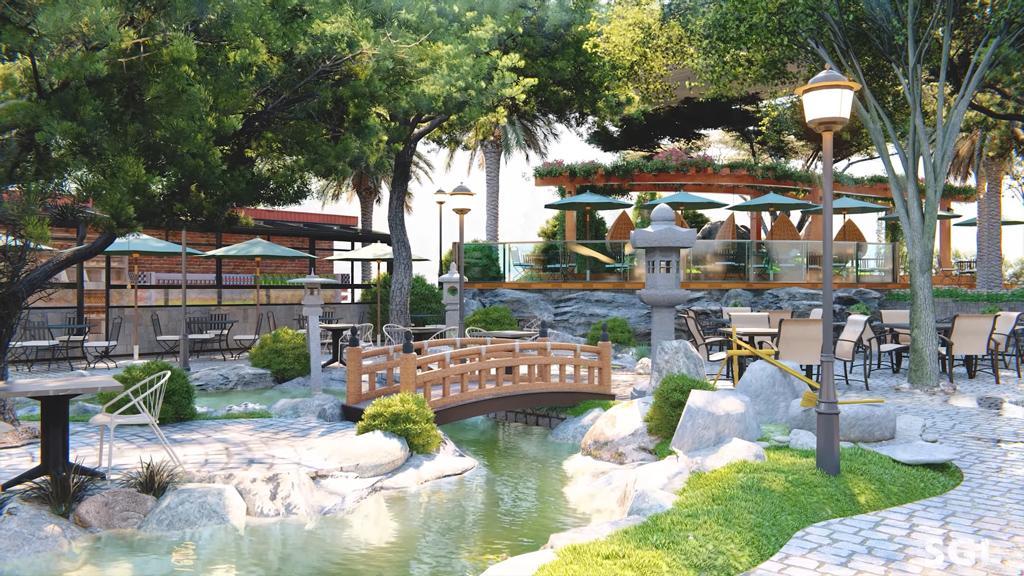 thiết kế cảnh quan quán cà phế   caykiengminhthao.com