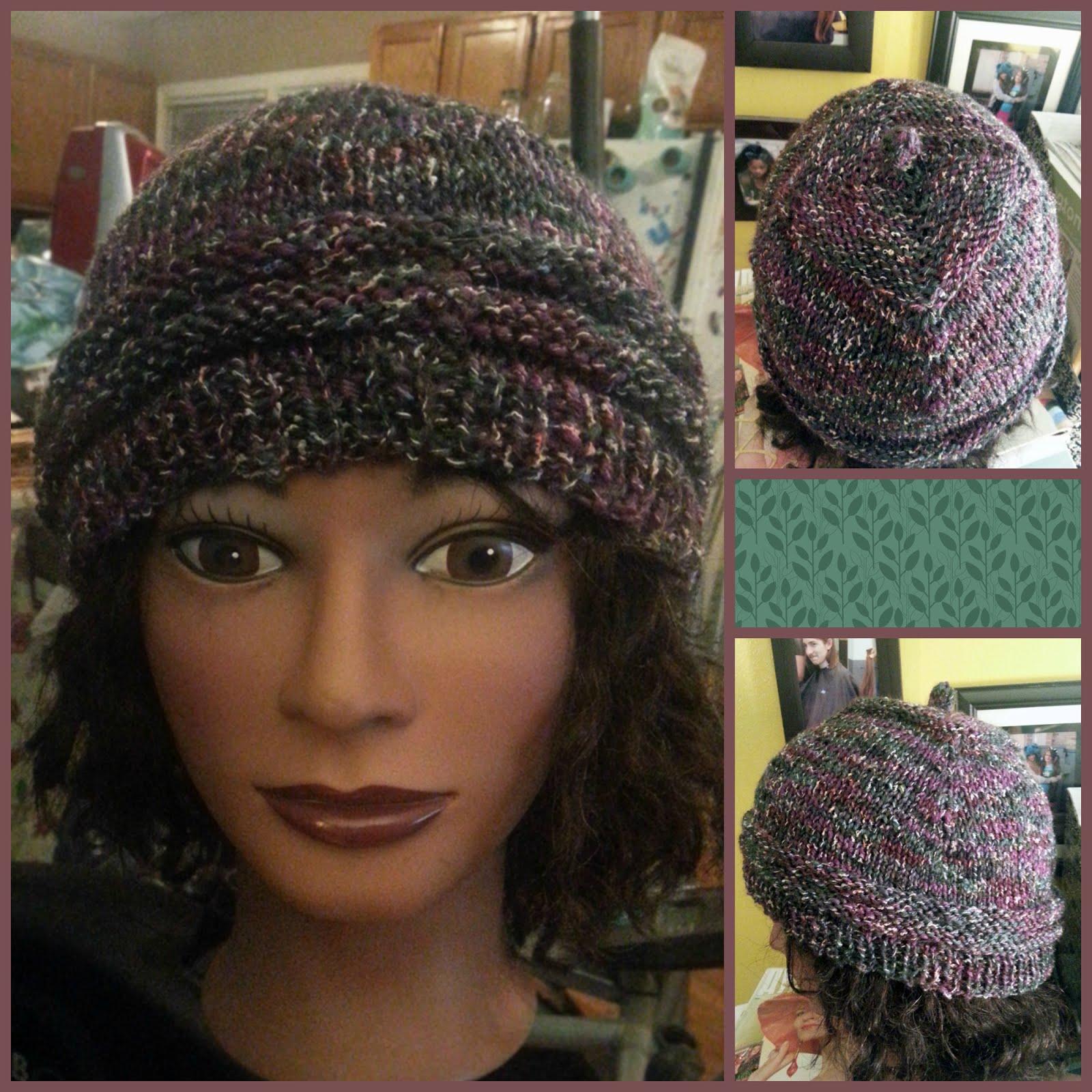 Me, My Purse & The Boys: Diamont Knit Hat - free pattern