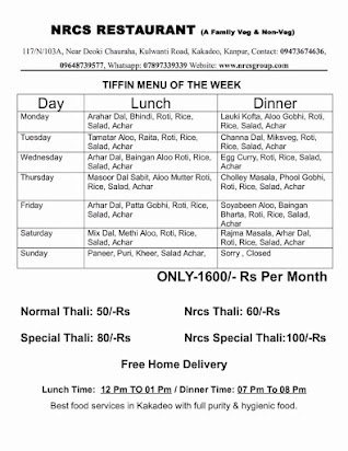 Sample business plan for tiffin services