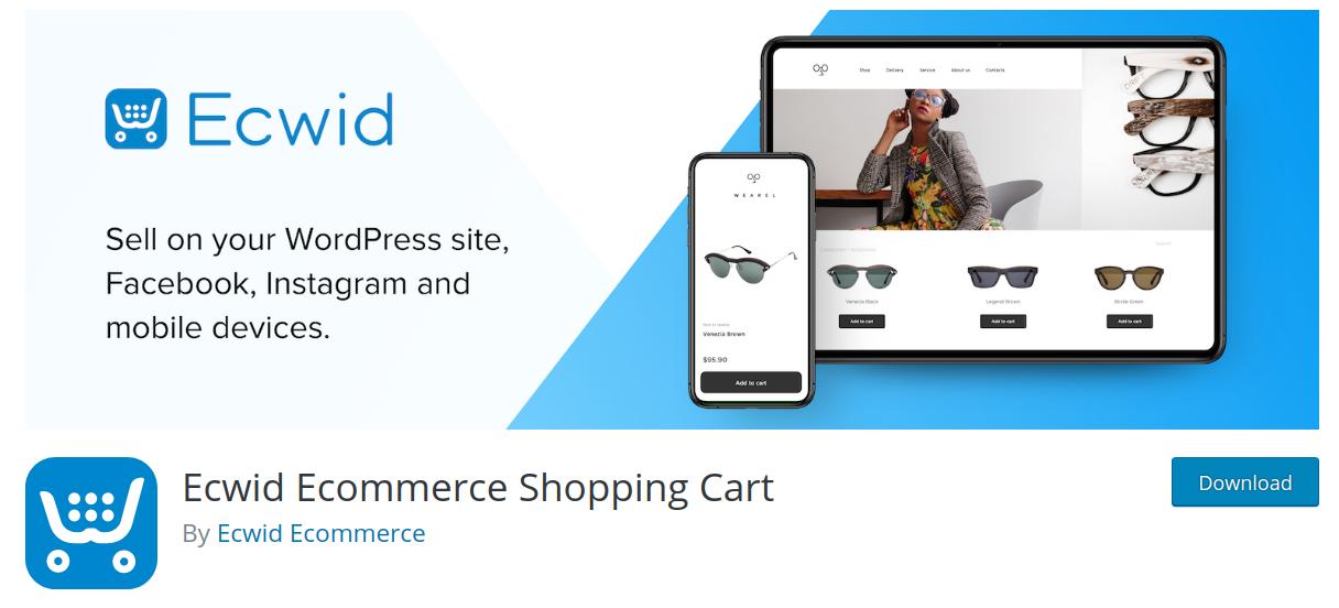ecwid wordpress ecommerce plugin header