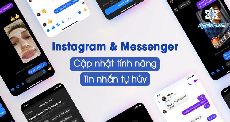Giới thiệu tính năng tin nhắn tự hủy trên Instagram và Messenger