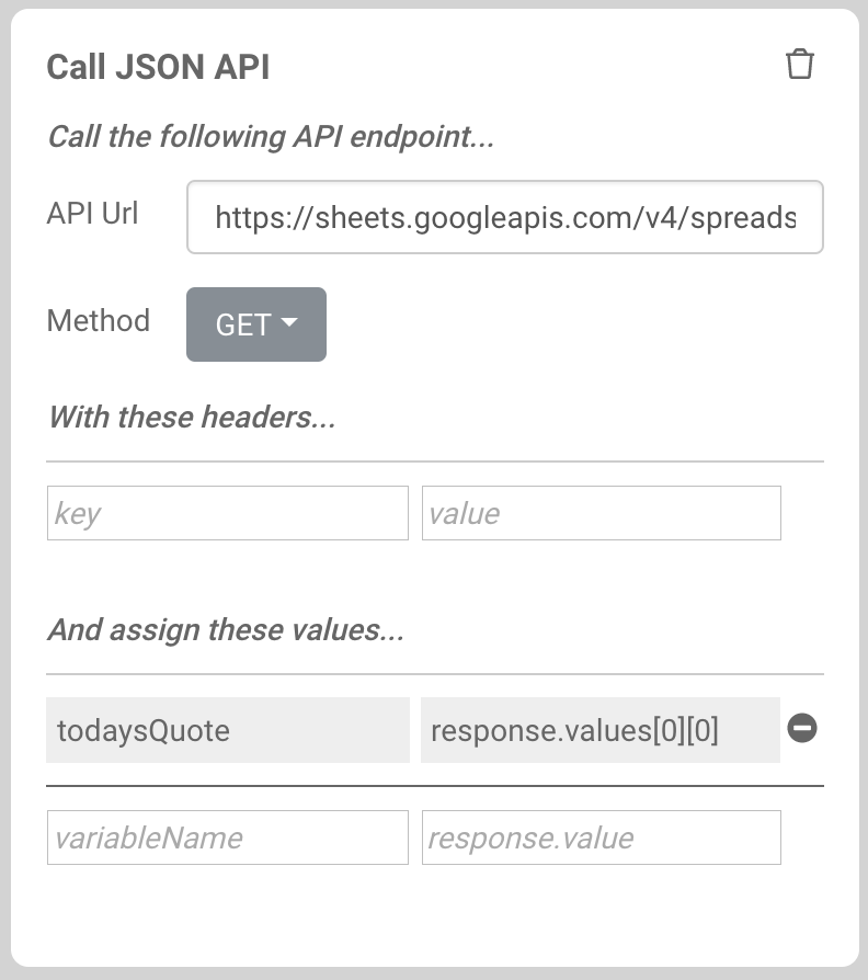Getting Data From Google Sheets | Voice Apps Help Center