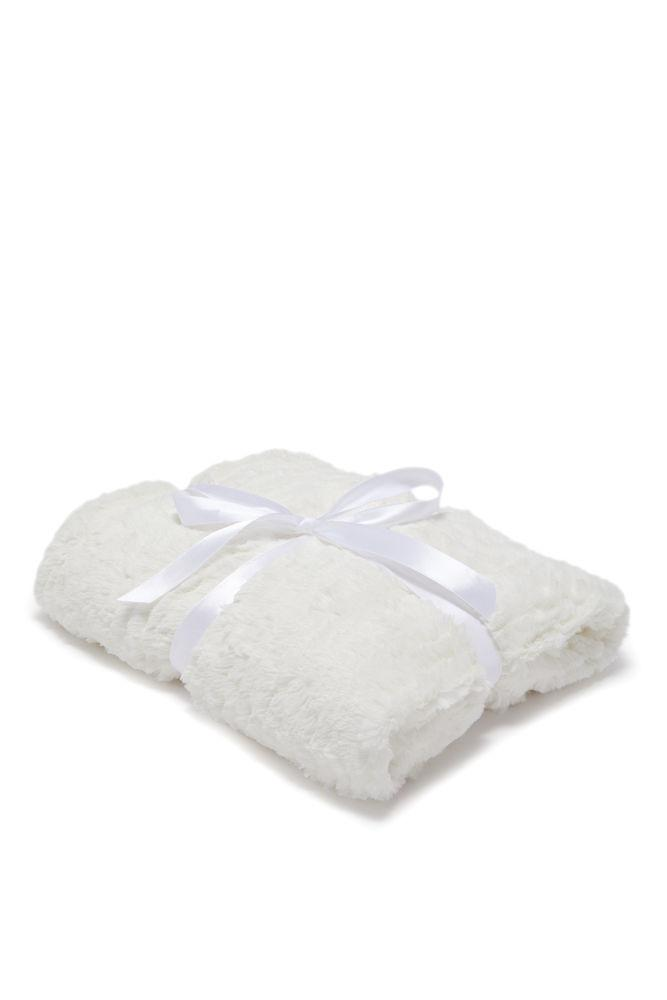 Faux Fur Blanket, IVORY, hi-res