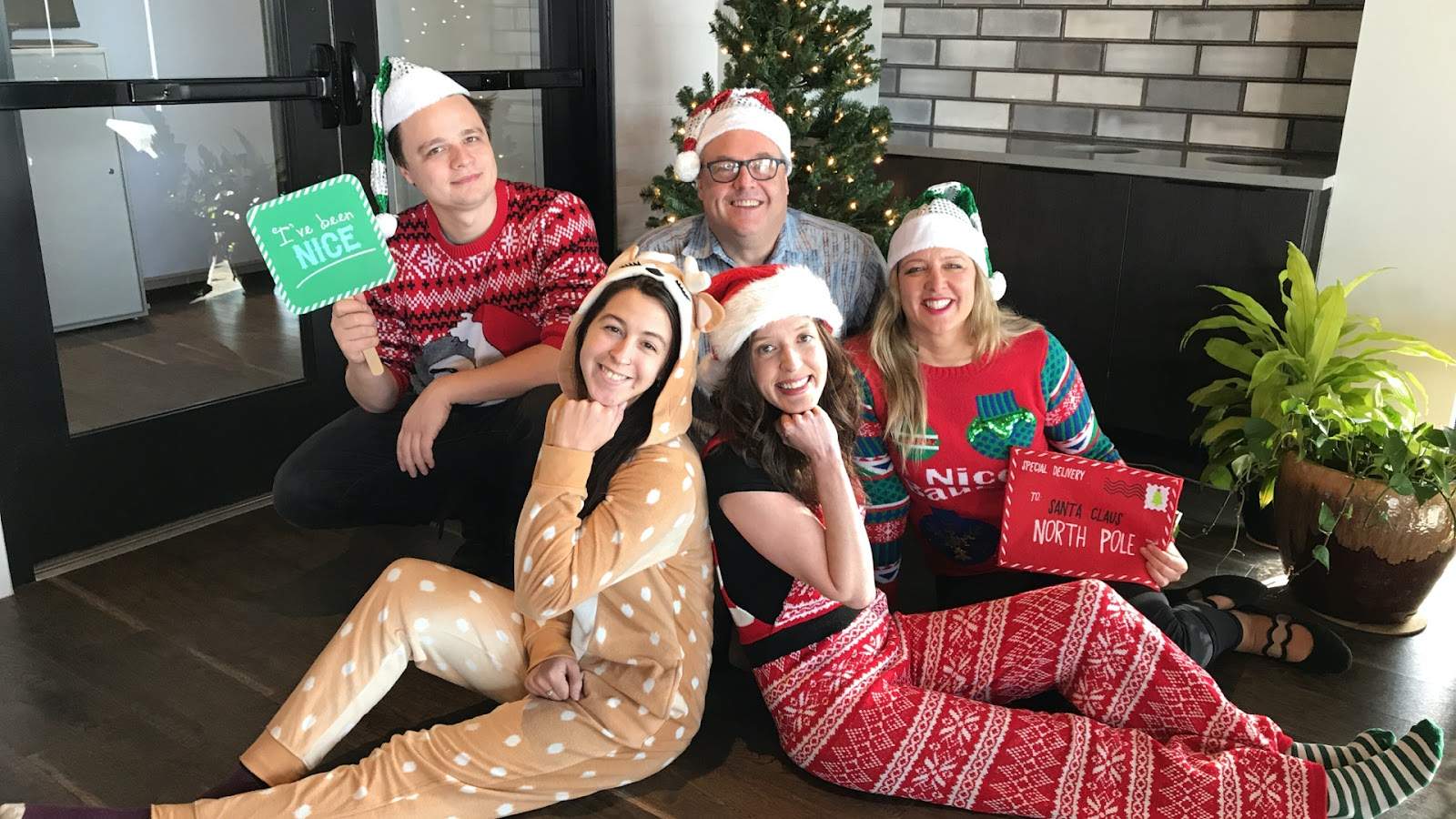 Storyvine team members during Christmas