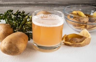 potato with its juice