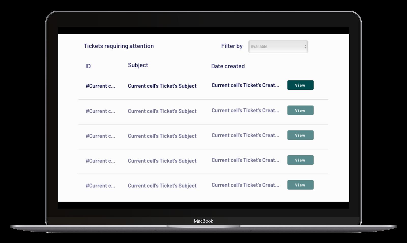 Zendesk no-code clone user interface