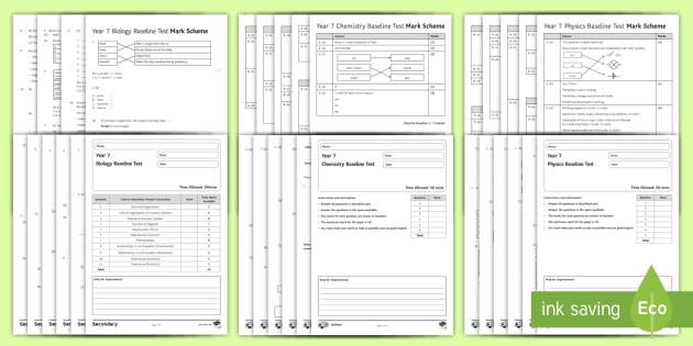 Baseline Assessment Pack for KS3 Science