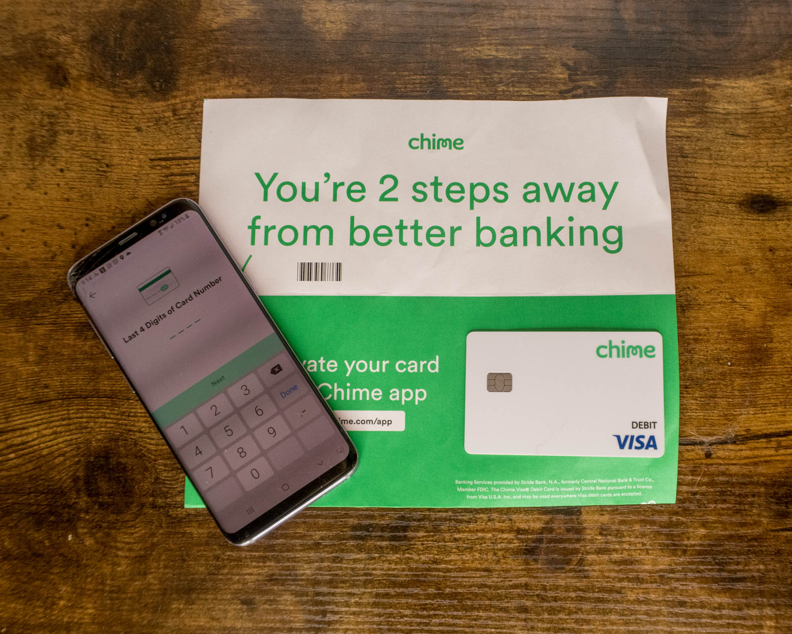 Chime is a great online banking service.