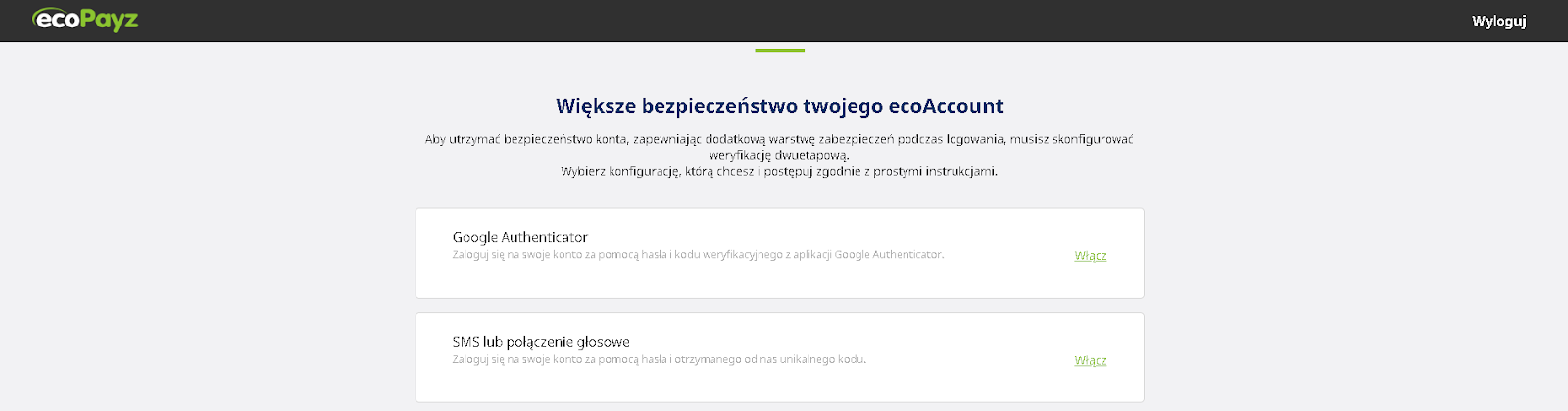Authenticator ecopayz