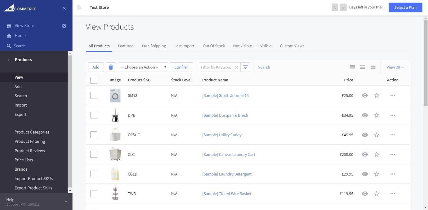 BigCommerce view products
