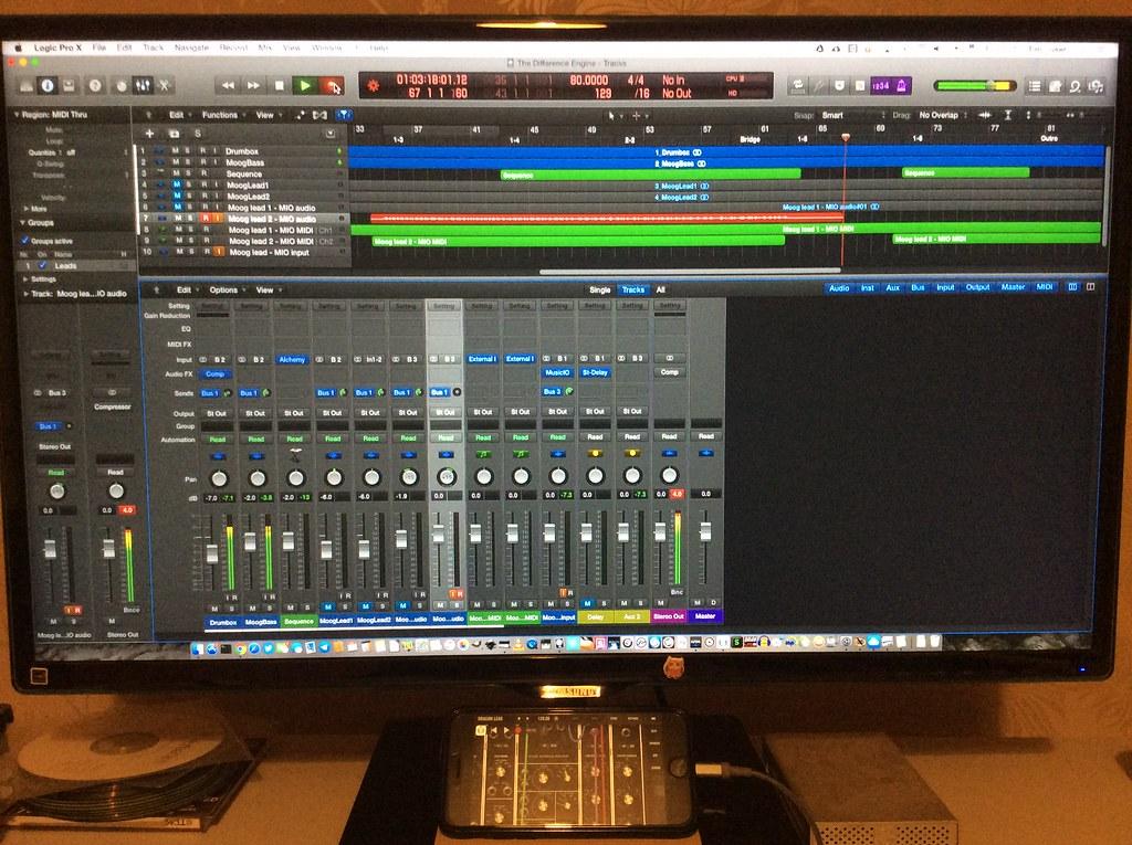 mixing on Logic Pro X