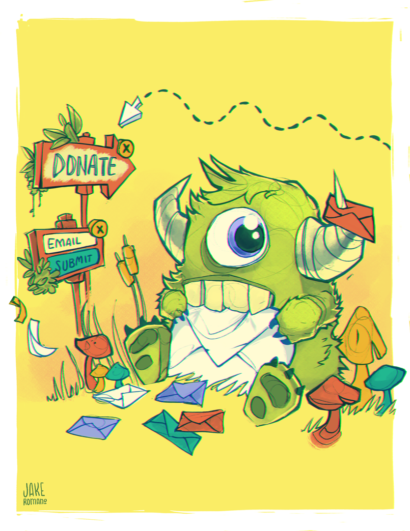 optinmonster mascot drawing