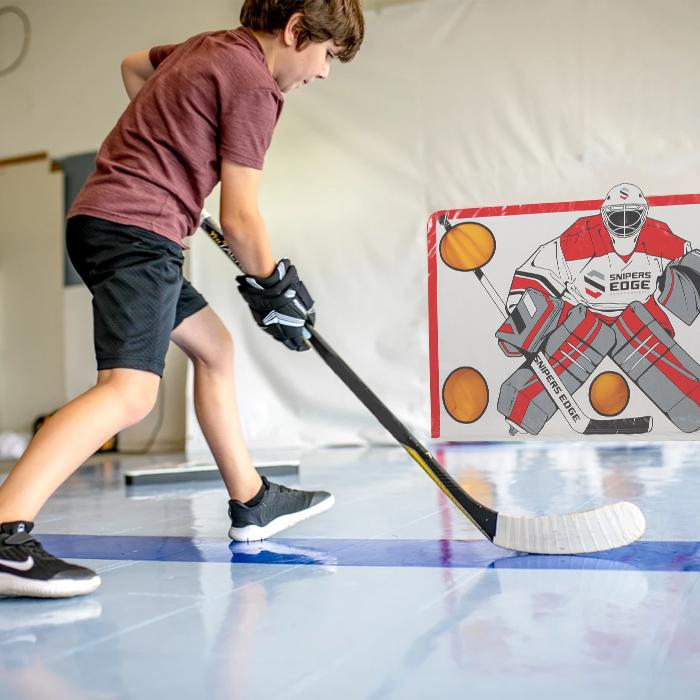 Training with  Floor Hockey Tiles
