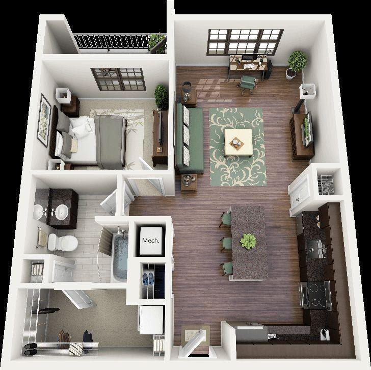 model ruangan rumah sederhana