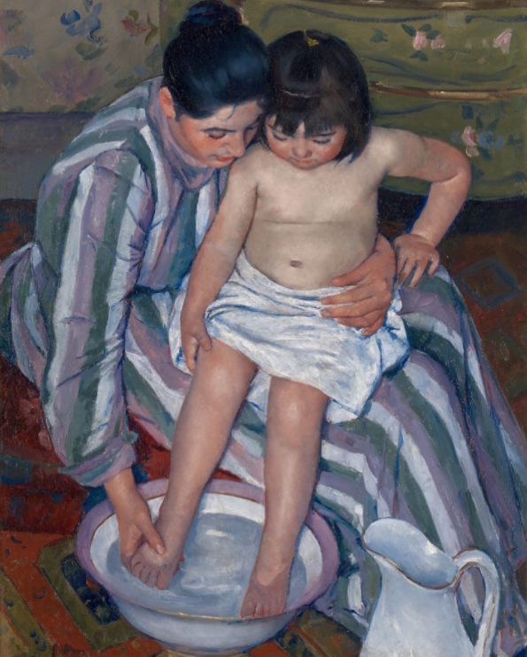 """A Child's Bath"" by Mary Cassatt."