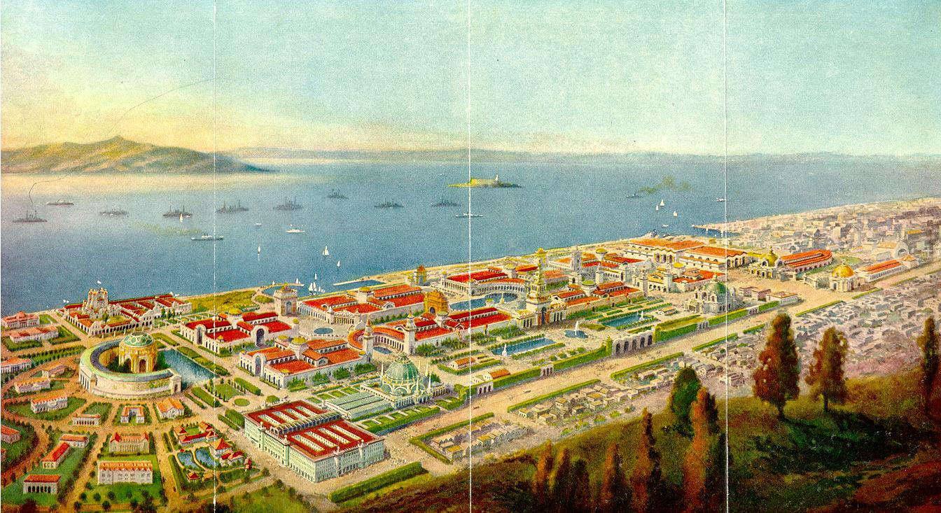 View of the Pan-Pacific Exposition City
