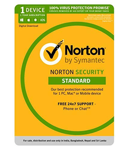 Norton Security Standard 1 Year Subscription For 1 Device