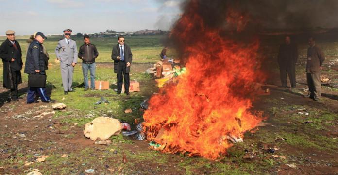"""Résultat de recherche d'images pour """"Incinération de près de 2 tonnes de chira à Laâyoune"""""""