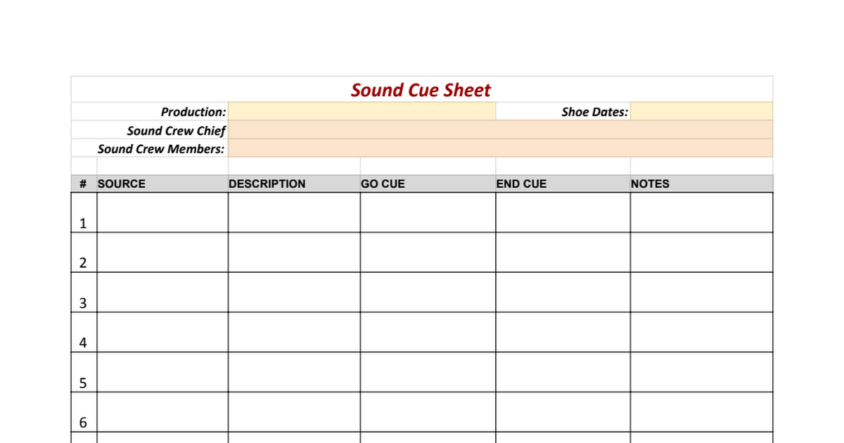 sample spreadsheets